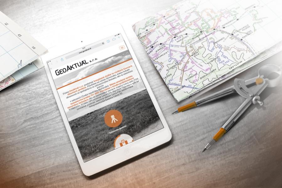 Geoaktual responzivny web tablet