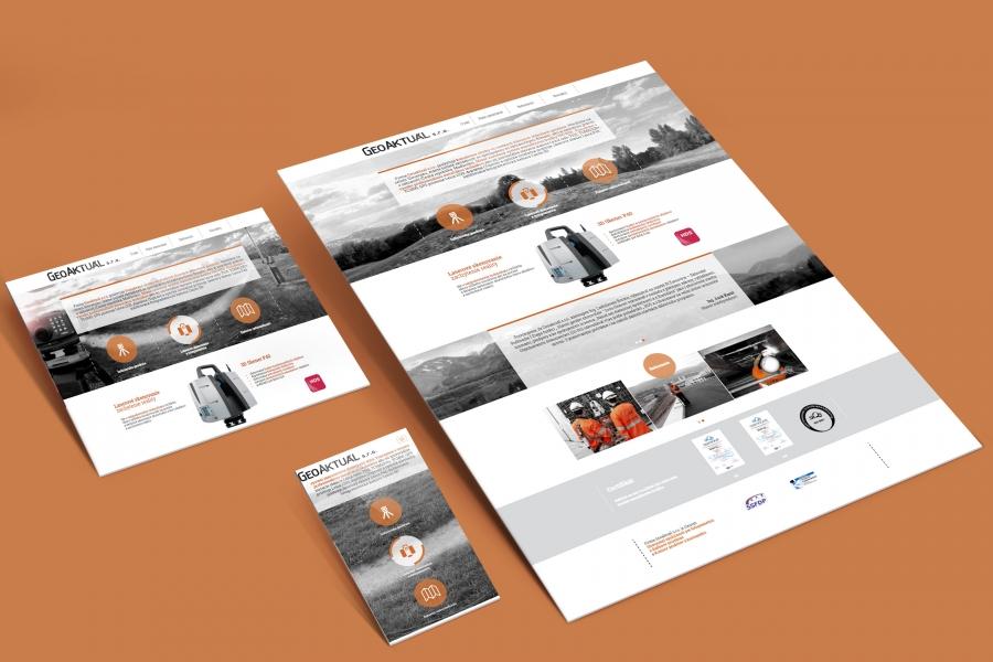 Geoaktual responzivny webdesign internetova stranka zariadenia desktop mobil tablet