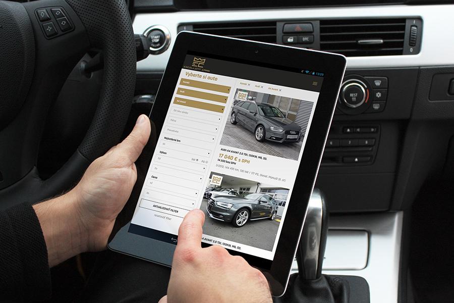 excellent cars responzivny web - tablet