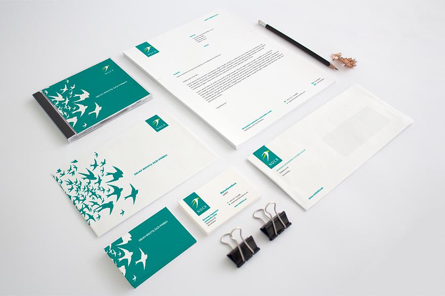 nitrianska organizacia cestovneho ruchu corporate identity - vizitka hlavickovy papier obalka animagraf