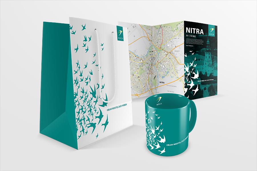 nitrianska organizacia cestovneho ruchu corporate identity - taska-hrncek-DL animagraf