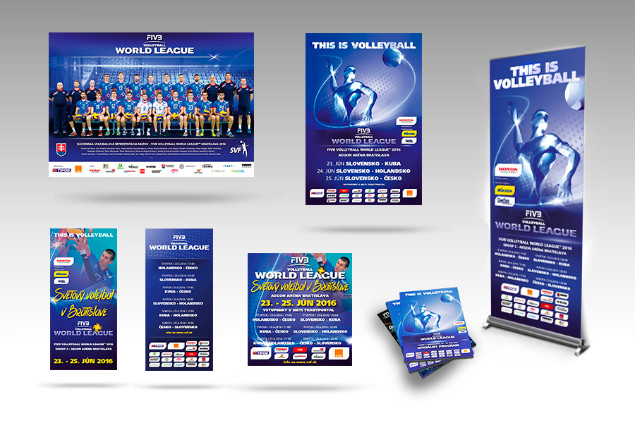 Propagacne materialy SVF - svetová liga volejbal 2016 by animagraf