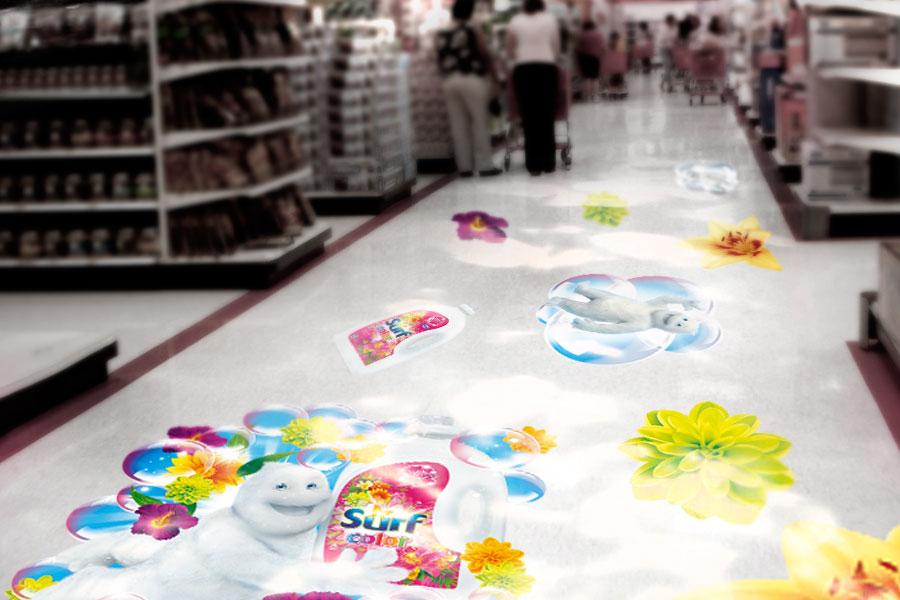 nalepky na zemi v obchode by animagraf Surf