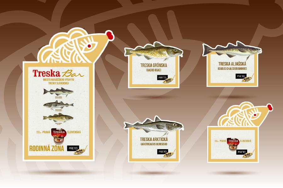 Treska bar propagacne materialy by animagraf