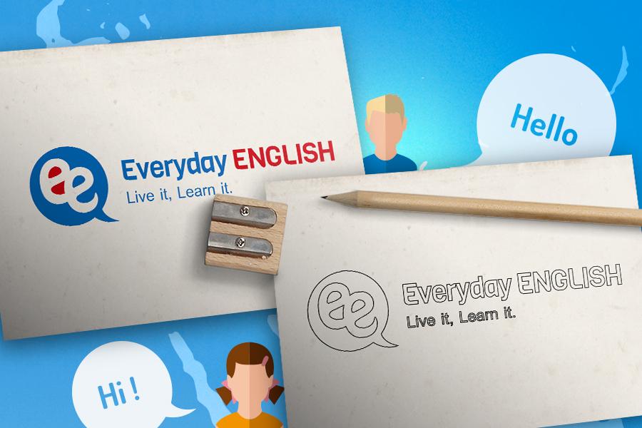 EverydayEnglish - jazykova skola nitra- tvorba loga graficke studio AnimaGraf