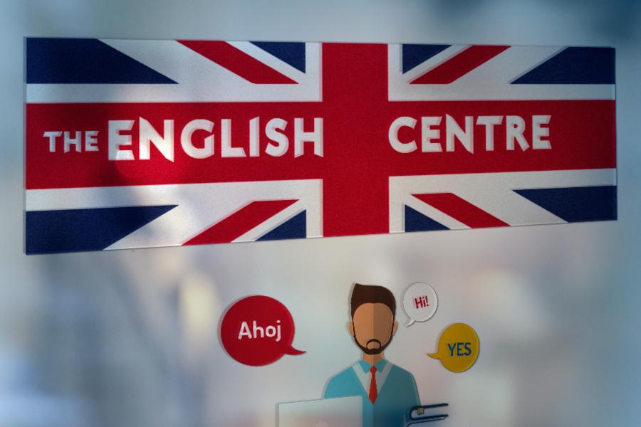 polep výkladu, polep okna everyday english jazykova skola nitra dizajn animagraf