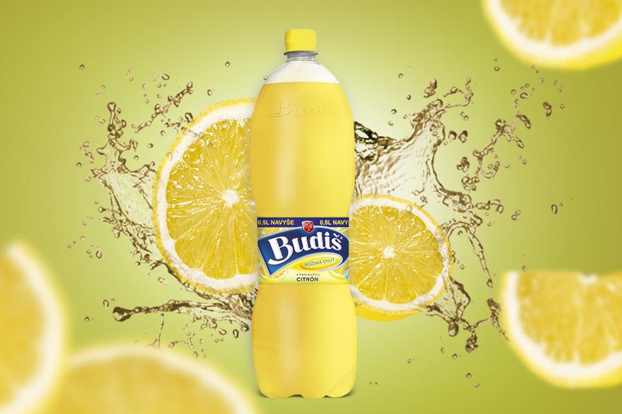 citron dizajn obalu flasa 2l Budis etiketa dizajn reklamna agentura a graficke studio AnimaGraf Nitra