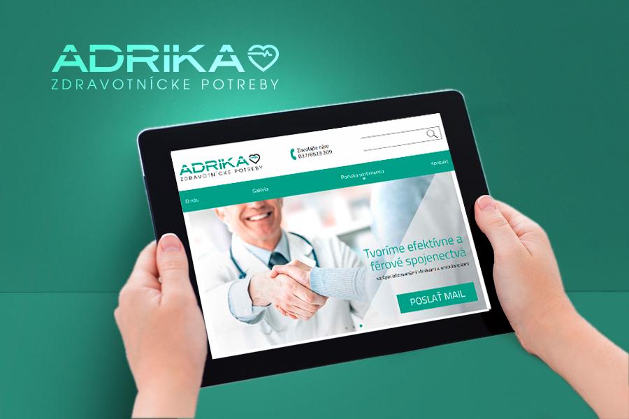 adrika laptop webdesign zdravotnicke potreby nový web responzivita reklamna agentura a graficke studio AnimaGraf nitra sturova ulica nove logo