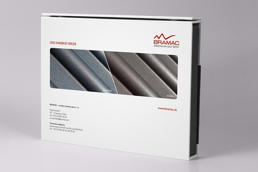 Bramac vzorkovník A5 kreativna grafika vyroba navrh realizacia vzorky skridle mokka granitova animagraf reklamna agentura graficke stuio nitra graficky dizajn