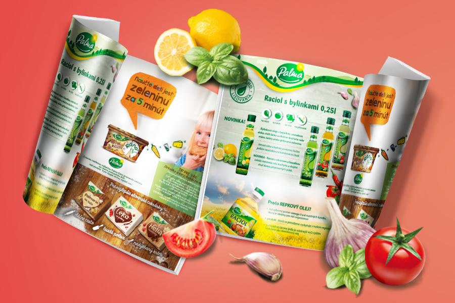 veto natierka maslo navrat oblubeneho originalu rastlinne maslo grafika identita podpora predaja plagat animagraf produkty graficke studio reklamna agentura nitra palma oleje katalog
