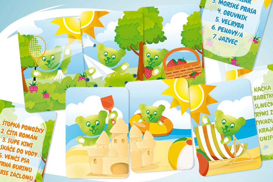 reklamna agentura graficke studio animagraf Nitra vyroba reklamy a tlace karty nanuky misa algida kvarteto hra pre deti grafika podpora predaja dokazes ma uhadnut kartova hra
